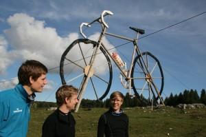 olbos, Karlsson och jag i La Joux (foto: Lina P)