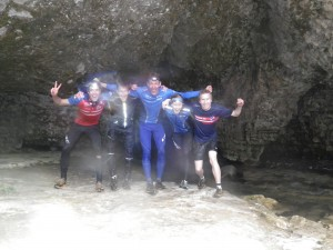 The courageous few at the other end of Cave Stream