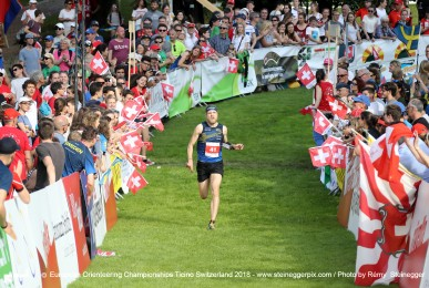 Gustav Bergman (SWE, 10.) - Sprint Final EOC 2018 Ticino Switzerland